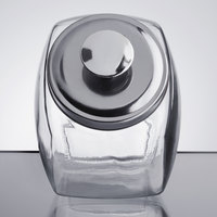 Choice 0.5 Gallon Glass Penny Candy Jar with Chrome Lid