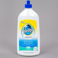 SC Johnson Pledge® 661444 27 oz. Squirt and Mop Multi-Surface Floor Care Cleaner - 6/Case