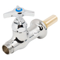 T&S B-0305-LN-175F Deck Mounted Single Hole Faucet Base with No Spout, Cerama Cartridge, and 4-Arm Handle