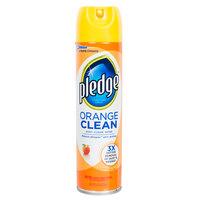 SC Johnson Pledge® 671304 9.7 oz. Orange Clean Aerosol Furniture Spray