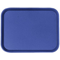 Cambro 1418FF186 14 inch x 18 inch Navy Blue Customizable Fast Food Tray   - 12/Case