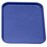 Cambro 1418FF186 Navy Blue 14 inch x 18 inch Customizable Fast Food Tray 12/Case