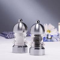 Chef Specialties 01572 3 1/2 inch Metro Acrylic Pepper Mill / Salt Mill Set