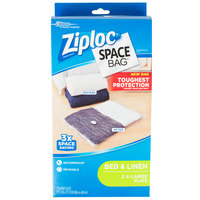 SC Johnson Ziploc® 690888 Space Bag® 26 1/2 inch x 39 1/2 inch Extra Large Flat Compression Bag   - 2/Box