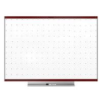 Quartet TE548MP2 Prestige 2 48 inch x 96 inch Total Erase Whiteboard with Mahogany Plastic Frame
