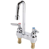 T&S B-1141-XS-F12 Deck Mounted Workboard Faucet with 4 inch Centers, 11 3/8 inch Gooseneck Spout, 1.2 GPM Aerator, Eterna Cartridges, and Lever Handles