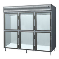 Delfield Stainless Steel SSH3-GH 78.89 Cu. Ft. Glass Half Door Three Section Reach In Heated Holding Cabinet - Specification Line