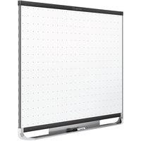 Quartet TEM548B Prestige 2 48 inch x 96 inch Magnetic Total Erase Whiteboard with Black Aluminum Frame