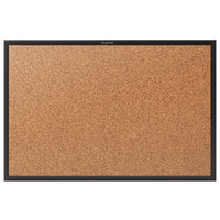 Quartet 2303B Classic 24 inch x 36 inch Cork Board with Black Aluminum Frame