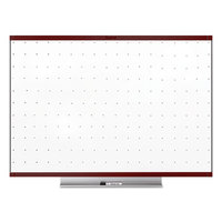 Quartet TE547MP2 Prestige 2 48 inch x 72 inch Total Erase Whiteboard with Mahogany Plastic Frame