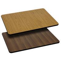 Flash Furniture XU-WNT-2430-GG 24 inch x 30 inch Natural / Walnut Reversible Laminated Rectangular Table Top