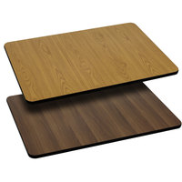 Flash Furniture XU-WNT-3060-GG 30 inch x 60 inch Natural / Walnut Reversible Laminated Rectangular Table Top
