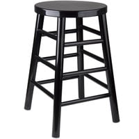 Lancaster Table & Seating Spartan Series 24 inch Black Metal Counter Height Stool