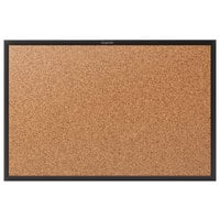 Quartet 2308B Classic 48 inch x 96 inch Cork Board with Black Aluminum Frame