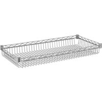 Metro CC9744 Super Erecta Chrome Wire Basket Shelf - 18 inch x 48 inch x 3 1/2 inch