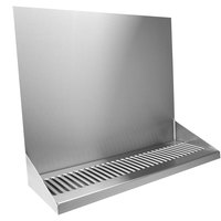 Micro Matic DP-322LD-0 16 inch x 6 3/8 inch x 14 inch Stainless Steel Wall Mount Drip Tray