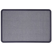 Quartet 7693BE Contour 24 inch x 36 inch Light Blue Fabric Bulletin Board with Navy Blue Plastic Frame