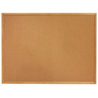 Quartet 305 Classic 34 inch x 60 inch Cork Board with Oak Finish Frame