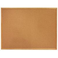 Quartet 305 Classic 34 inch x 60 inch Cork Board with Oak Finish Frame