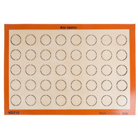 Sasa Demarle SILPAT® AES620420-03 Macaroons 16 1/2 inch x 24 1/2 inch Full Size Silicone Non-Stick Baking Mat