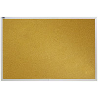 Quartet ECKA406 48 inch x 72 inch Cork Board with Silver Aluminum Frame