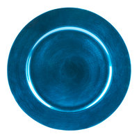 Tabletop Classics TRBL-6651 13 inch Blue Round Polypropylene Charger Plate