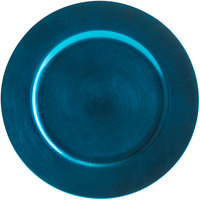Tabletop Classics by Walco TRBL-6651 13 inch Blue Round Plastic Charger Plate