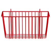 Metro H209F Flame Red Storage Basket for Wire Shelving - 13 3/8 inch x 5 inch x7 inch