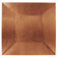 Tabletop Classics TRC-6670 13 inch x 13 inch Copper Square Polypropylene Charger Plate