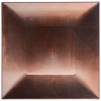 Tabletop Classics by Walco TRC-6670 13 inch x 13 inch Copper Square Plastic Charger Plate