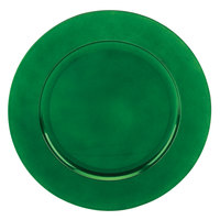 Tabletop Classics TR-6663 13 inch Green Round Polypropylene Charger Plate