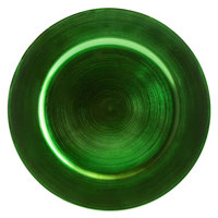 Tabletop Classics by Walco TR-6663 13 inch Green Round Plastic Charger Plate
