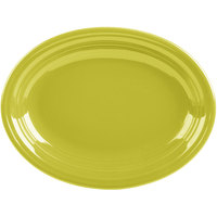 Homer Laughlin 457332 Fiesta Lemongrass 11 5/8 inch Medium Oval Platter   - 12/Case