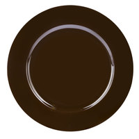 Tabletop Classics TRBR-6651 13 inch Brown Round Polypropylene Charger Plate