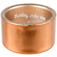 Tabletop Classics by Walco AC-6512C Copper 1 3/4 inch Round Polypropylene Napkin Ring