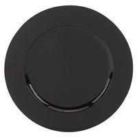 Tabletop Classics TR-6658 13 inch Black Round Polypropylene Charger Plate