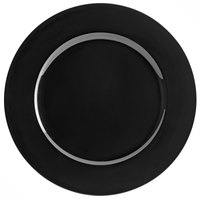 Tabletop Classics by Walco TR-6658 13 inch Black Round Plastic Charger Plate