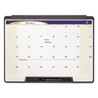 Quartet MMC25 Motion 18 inch x 24 inch Portable Monthly Calendar Whiteboard with Black Plastic Frame
