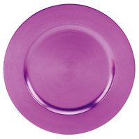 Tabletop Classics TRPL-6651 13 inch Purple Round Polypropylene Charger Plate