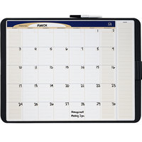 Quartet CT2317 17 inch x 23 inch Tack and Write Melamine Monthly Calendar Whiteboard with Black Frame