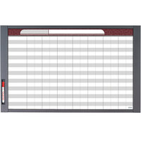 Quartet 72982 InView 24 inch x 36 inch Magnetic Total Erase Custom Whiteboard with Graphite Frame