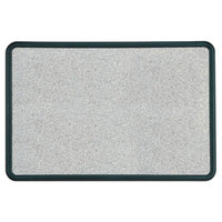 Quartet 699370 Contour 24 inch x 36 inch Granite Gray Bulletin Board with Black Plastic Frame