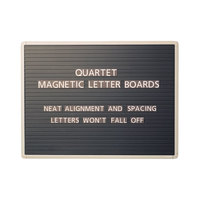 Quartet 903M 24 inch x 36 inch Magnetic Black Message Board with Gray Aluminum Frame