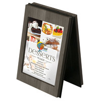 Menu Solutions CHRT4-ASH Charleston 4 inch x 6 inch Ash Two View Wooden Table Tent