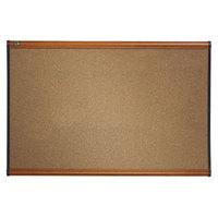 Quartet B247LC Prestige 48 inch x 72 inch Graphite-Blend Cork Board with Cherry Plastic Frame