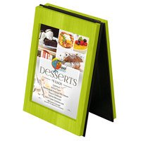 Menu Solutions CHRT4-LIME Charleston 4 inch x 6 inch Lime Two View Wooden Table Tent