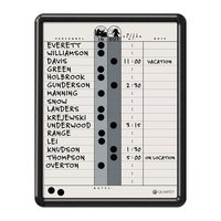 Quartet 750 14 inch x 11 inch Magnetic Porcelain In-Out Whiteboard with Black Plastic Frame