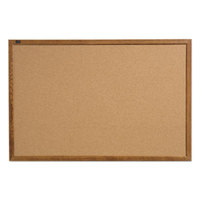 Quartet 85212 17 inch x 23 inch Cork Board with Oak Finish Frame