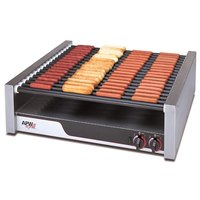 APW Wyott HRS-85 X*Pert Flat Top Hot Dog Roller Grill with Tru-Turn Surface Rollers - 208/240V, 2017/2640W