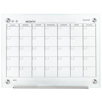 Quartet GC3624F Infinity 24 inch x 36 inch Frameless Magnetic White Glass Monthly Calendar Markerboard